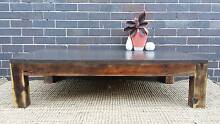 Large Solid Hardwood Coffee Table Charcoal Upcycled Coogee Eastern Suburbs Preview