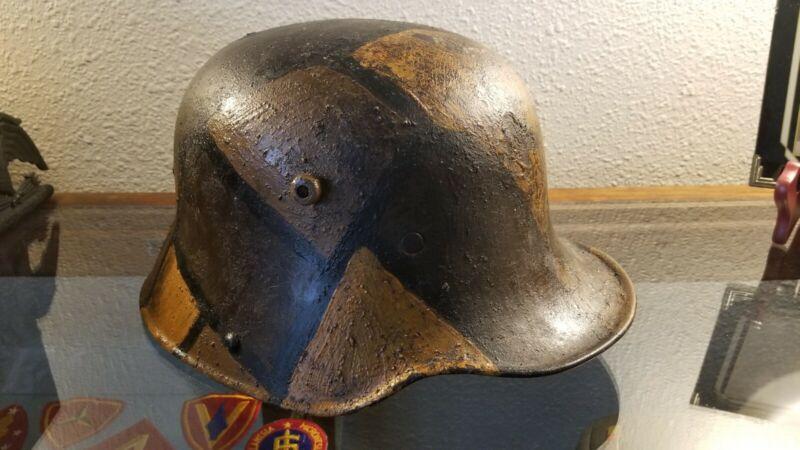 WW1 Camouflaged German M16 Helmet