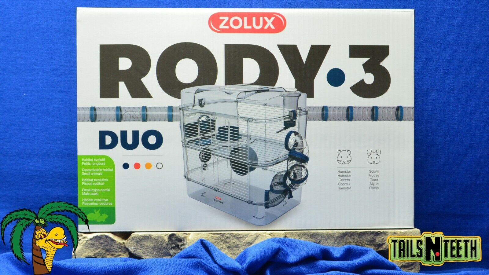 Zolux RODY-3 DUO Cage For Hamsters Gerbils Mice - Blue - InterConnecting Cages - CA$56.99