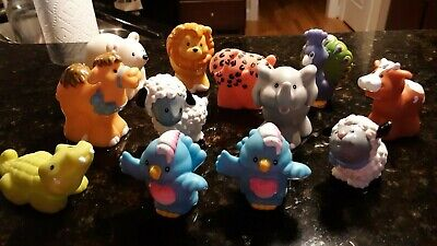Fisher Price Little People Zoo Animals Lot of 12