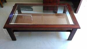 Wooden and Cane Coffee Table Bardwell Valley Rockdale Area Preview