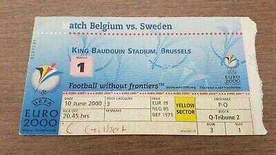 TICKET EURO 2000 BELGIUM - SWEDEN