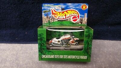 1999 Limited Edition Hot Wheel Chicago Toys For Tots Scorchin Scoooter *MIB*