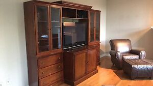 Bombay co. Cherry wall unit