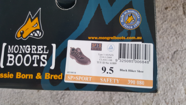 Mongrel Steel Capped Work Boots Hiker Boots Nib Never