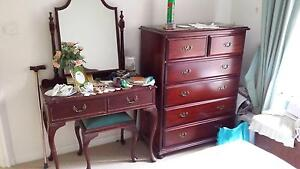 Dark polished wood furniture set & lounge Penrith Penrith Area Preview