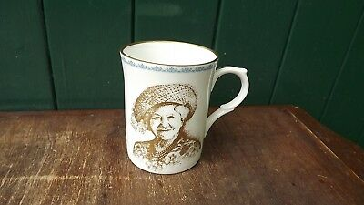 1999 Queen Mother 99th Birthday China Mug with Gold Portrait Only 99 made