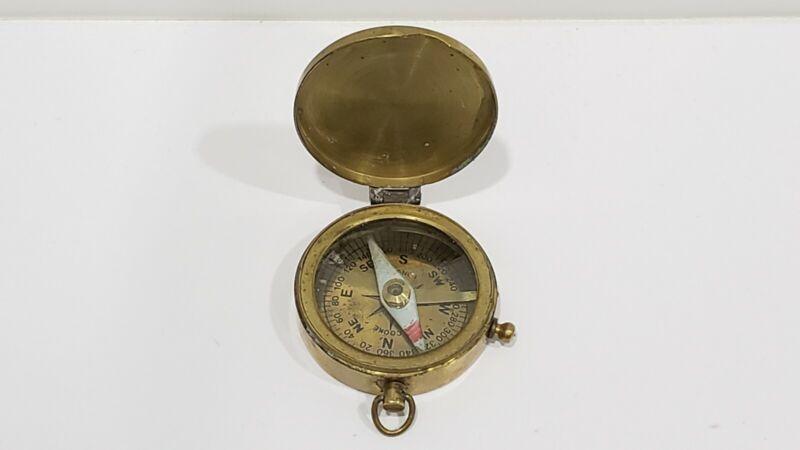 Vintage T. COOKE London Brass Compass