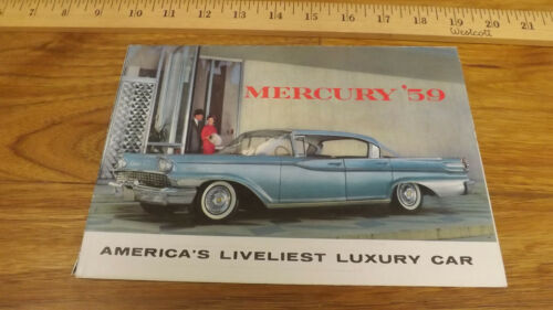 1959 Mercury Line Park Lane,Monterey,Montclair Poster Dealer Sales Brochure