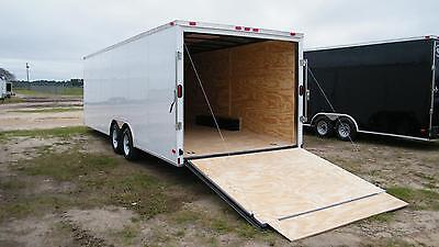 8.5x16 Enclosed Trailer Cargo V-nose 18 Car Hauler Box 8 Motorcycle 2017 Call