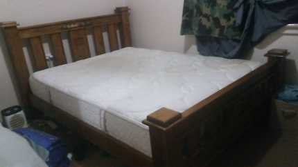 Queen size bed, comes with soft top mattress