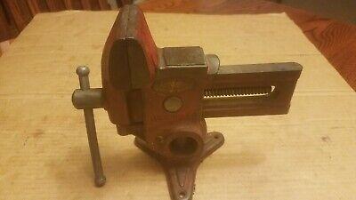 Vintage Columbian Gyro-vise No 73-12 Dual-mount Swivel Base. Made In Usa.