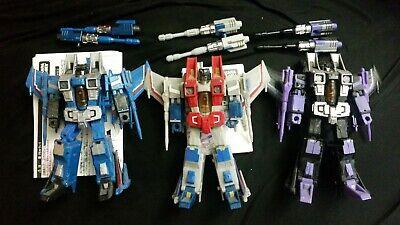 Transformers Generations Classics Starscream Thundercracker Skywarp seeker set