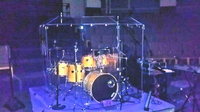 Drum Shields / Drum Shield / Drum Screen  6 ft.  x 12  CHrome Hinges