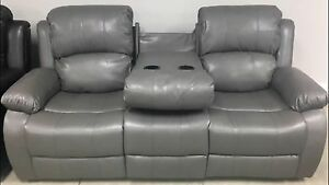 New3PieceGreyReclining LoveSeat ,couch drop table sofa,recliner