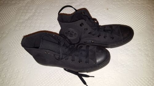 CONVERSE Chuck Taylor All Star High Top Canvas Shoes All Black Men 5/Women 7