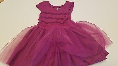 RUUM AMERICAN KID'S WEAR LACE TULLE DRESS PURPLE GIRLS 2T DRESSY SEQUINS