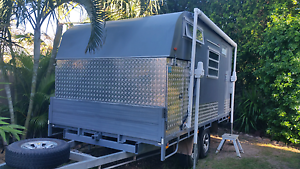SLIDE ON CAMPER With custom off road trailer. Buddina Maroochydore Area Preview