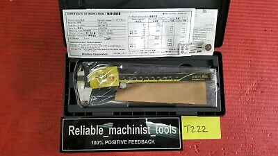 New Mitutoyo Japan Made 6 Inch Absolute Digital Calipermachinist Toolt222