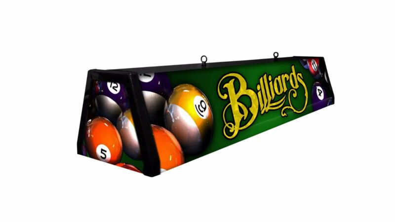 GREEN BILLIARDS, Back lit Pool Table Light Billiard Lamp