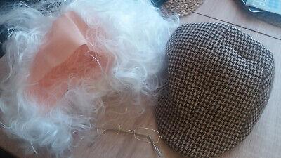 Perücke Opa Halbglatze Schiebermütze Einstein - Einstein Perücke Kostüme