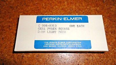 Lot Of 3 Perkins Elmer  Pyrex Spectrometer Cuvette Cell C-006-0313 3-mm D8