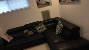 2 seats sectional couch