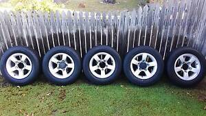 5 x Suzuki Jimmy standard alloy wheels and tyres Woorim Caboolture Area Preview