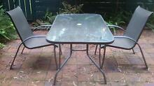 Textured Glass Table with 2 Chairs Macquarie Park Ryde Area Preview