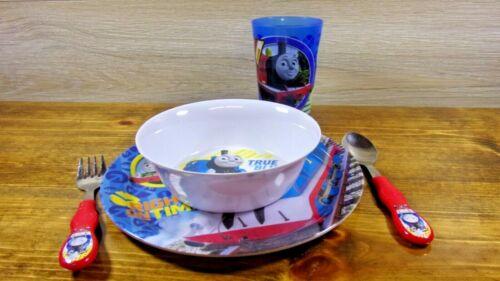Thomas the Train Zak Dinnerware Set (Plate, Bowl, Cup, Fork, Spoon)