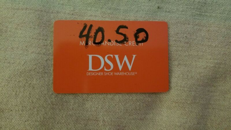 DSW Gift Card (Mercandise Credit) - $40.50.