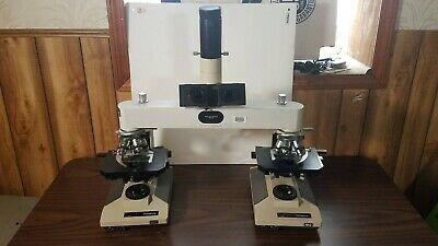Leitz Wetzlar Forensic Comparison Microscope With Olympus Bh2s And Camera Mount