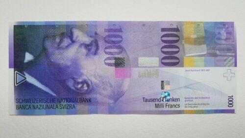 Switzerland 1000 Franken 2012 UNC Pick # 74d Serial # 12L2511842