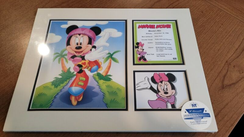 Minnie Mouse Authentic Disney Commemorative Matted Pictures & COA #11-012 New