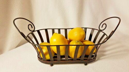 Metal Fruit Bowl Table Decor Bowl Metal Basket Display Basket Primitive Looking