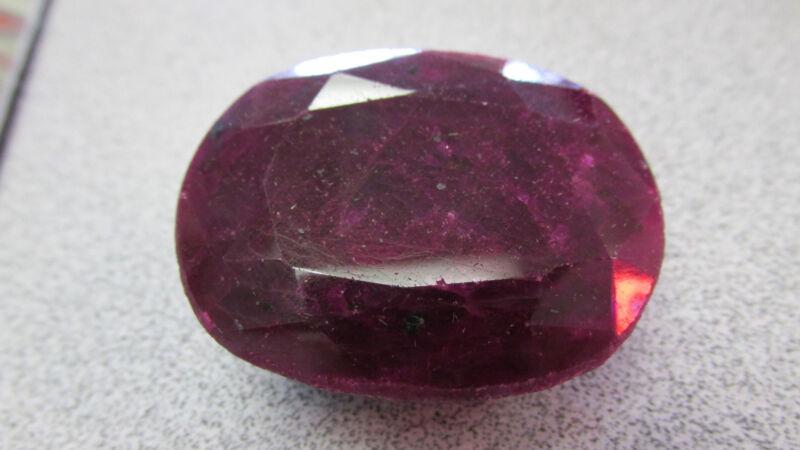 230.00  Carat  Gem  RUBY  Large Natural Faceted Gemstone  Appraised at  $3500.00