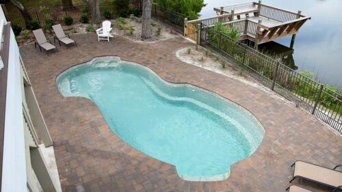 "Large Freeform Swimming Pool Baron Model 29'10"" X 13'6″"