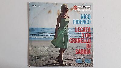 """Vinyl-7""""-Cover # nur Cover # Nico Fidenco # Legata A Un Granello Di Sabbia # vg-"""