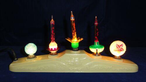 5 Light C6 Christmas Bubble Light Candolier- Noma-Paramount-Royal-Matchless Star