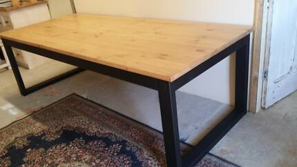 Made to order  30mm solid pine dining table with U shaped legs Lonsdale Morphett Vale Area Preview
