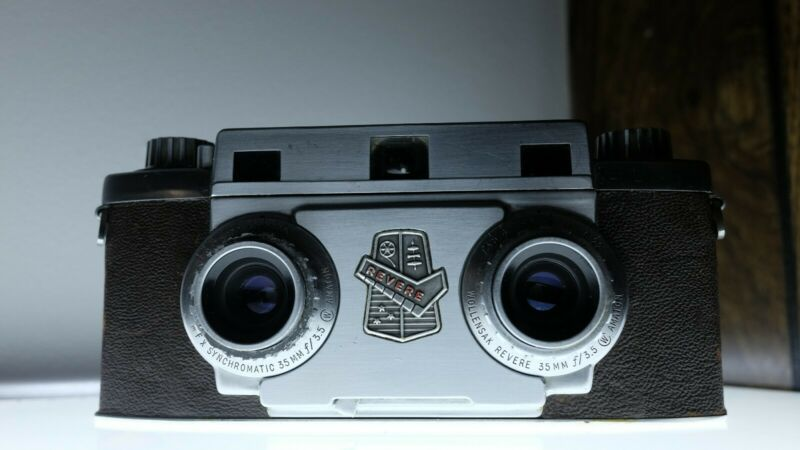 Revere Model 33 Stereo Camera 3D - Excellent Conditon Film Tested! Stereoscopic