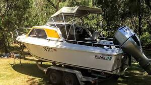 Pride 17.6ft fiberglass half cabin + honda 135hp outboard Yallingup Busselton Area Preview