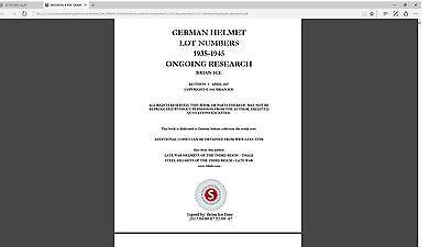 PDF FILE - 9  GERMAN HELMET LOT NUMBERS 1935-1945  REVISION - 9  COMPUTER FILE