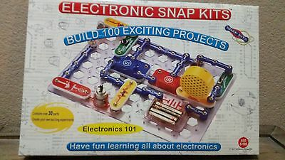 Electronic Snap Kits Circuits Electronics Discovery Kit 100 Projects