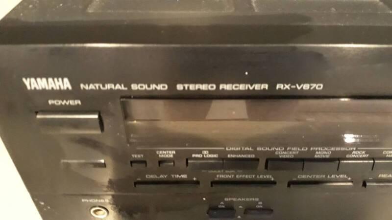 Yamaha RX-V670 Dolby 5 1 Surround Sound A/