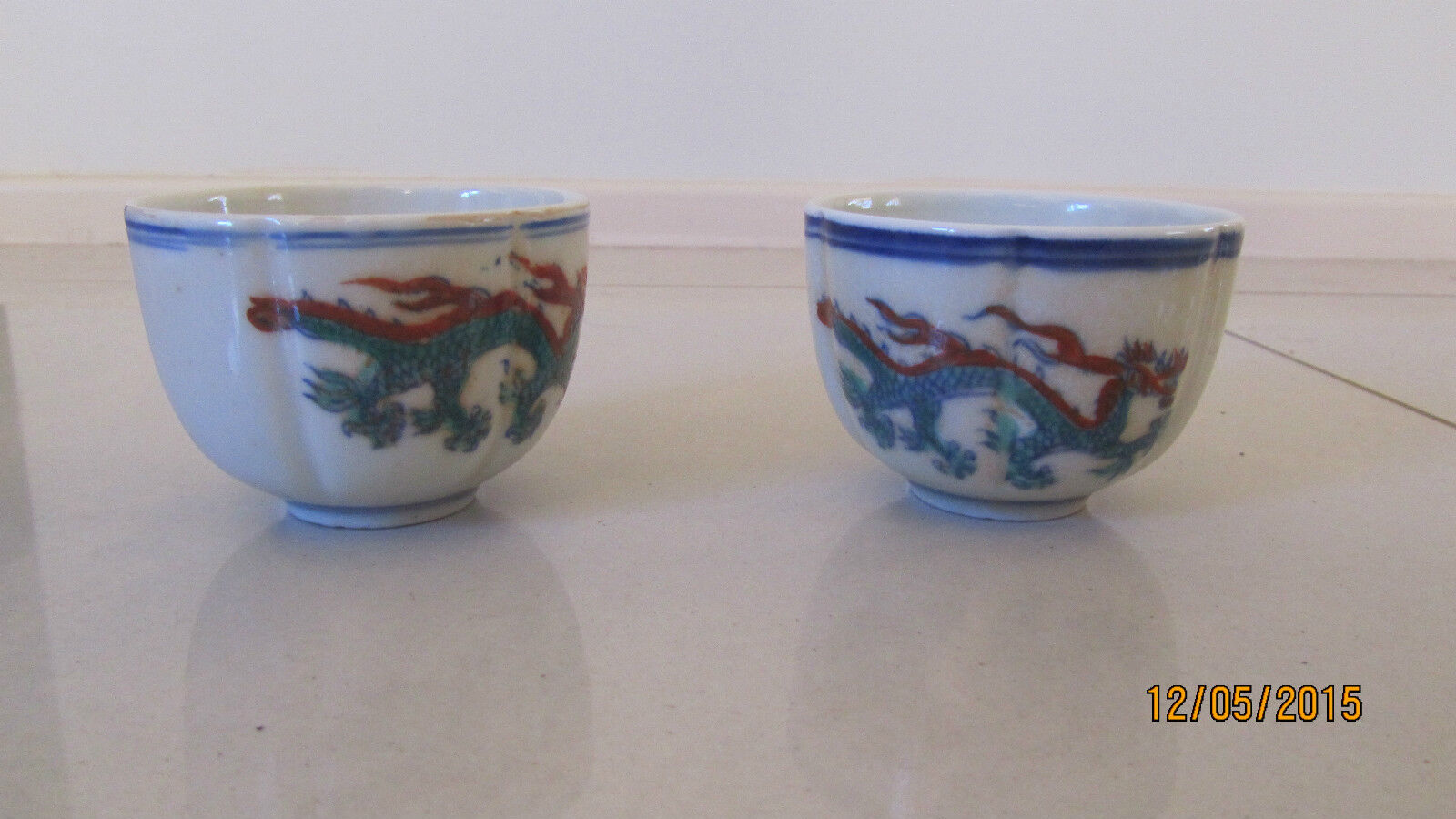 Ming Style - Chenghua Wine Cups x 2