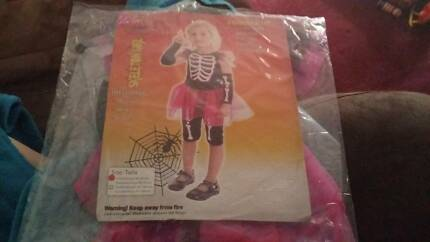 baby kid Halloween costume skeleton