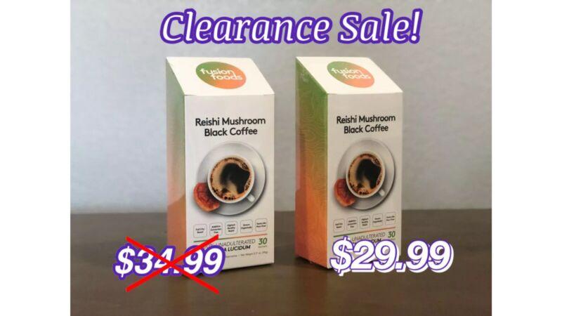 2 Boxes Reishi Mushroom Black Coffee (W/ 100% Certified Ganoderma LucidumCoffee)