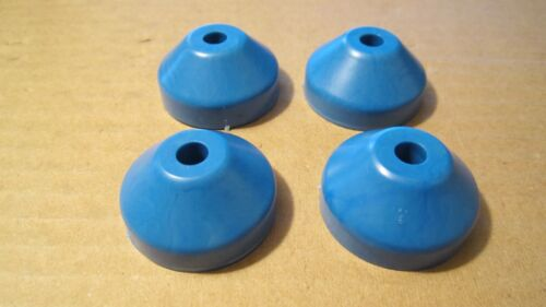 45rpm Record Dome Adaptors Blue Styrene Plastic made in USA 4 in Package