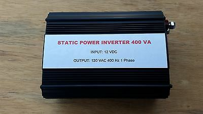 Static Inverter 12 Vdc 400 Va 120 Vac 400 Hz Fan Cooled